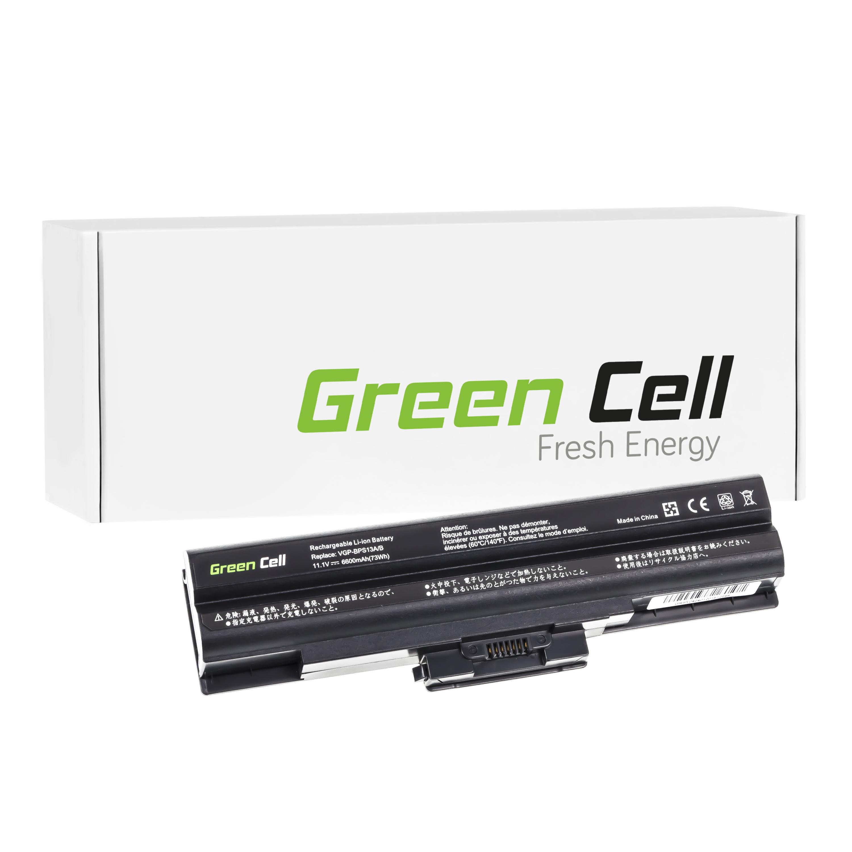 Green Cell Notebook Akku Batterie für Sony Vaio VPCS137GH (6600mAh) - <span itemprop=availableAtOrFrom>Görlitz, Deutschland</span> - Widerrufsrecht für Verbraucher (Verbraucher ist jede natürliche Person, die ein Rechtsgeschäft zu einem Zwecke abschließt, der weder ihrer gewerblichen noch selbständigen beruflichen T - Görlitz, Deutschland