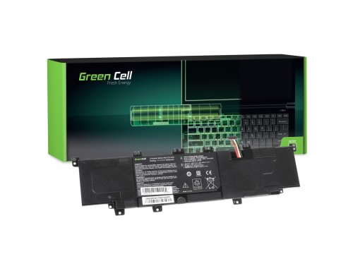 Green Cell ® Laptop Akku C31-X402 für Asus VivoBook S300 S300C S300CA S400 S400C S400CA X402 X402C