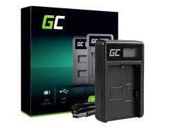 Ladegerät LC-E6 Green Cell ® für Canon LP-E6 LPE6N, EOS 5D MARK III/II 6D 7D 60D 60DA BG-E6 (8.4V 5W 0.6A Schwarz)