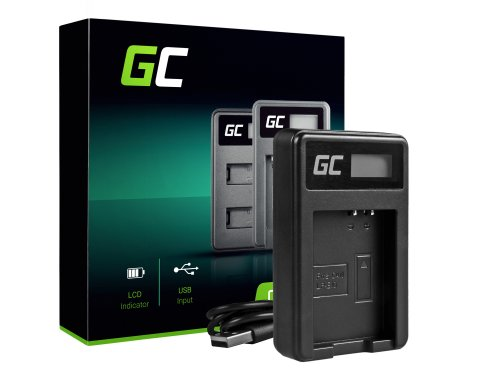 Ladegerät LC-E10 Green Cell ® für Canon LP-E10, EOS 1100D 1200D 1300D Kiss X50 X70 Rebel T3 T5 T6 (8.4V 5W 0.6A)