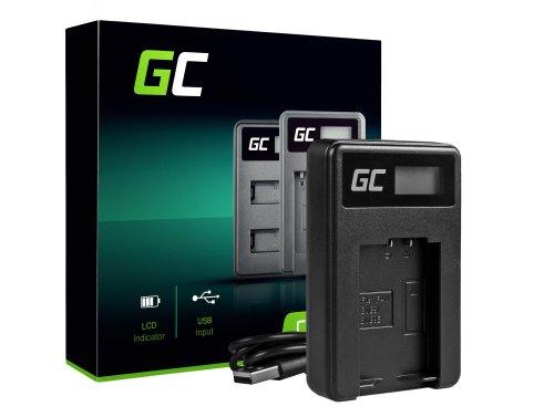 Nabíječka baterií fotoaparátu DE-A83 Green Cell Cell® pro Panasonic DMW-MBM9, Lumix DMC-FZ70, DMC-FZ60, DMC-FZ100, DMC-FZ40