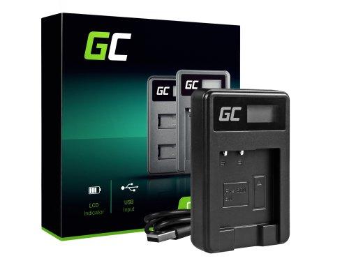 Ladegerät BC-CSN Green Cell ® für Sony NP-BN1, Cyber-Shot DSC TF1 TX5 TX7 TX10 TX20 QX10 QX30 QX100 W530 W650 W800 WX30 WX50