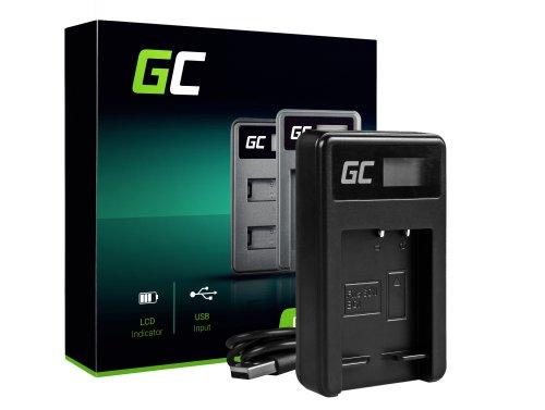 Ladegerät BC-CSG Green Cell ® für Sony NP-BG1 NP-FG1, DSC H10 H20 H50 HX5 HX10 HX20V N1 N2 T50 T100 W30L W35 W50 W70 WX10