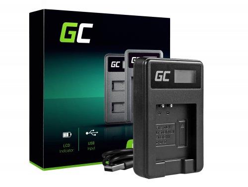 Ladegerät LI-50C Green Cell ® für Olympus LI-50B, SZ-15 SZ-16 Tough 6000 8000 TG-810 TG-820 TG-830 TG-850 VR-370 XZ-1 XZ-10