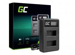Kamera Akku-Ladegerät AHBBP-401 Green Cell ® für GoPro AHDBT-401, HD Hero4
