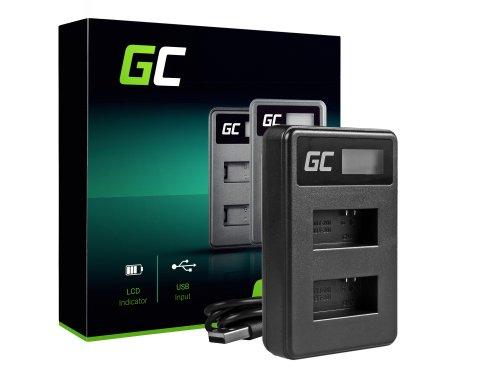 Ladegerät AHDBT-301 AHBBP-301 Green Cell ® für GoPro HD HERO 3 CHDHX Black Silver White Edition (4.2V 2.5W 0.6A)