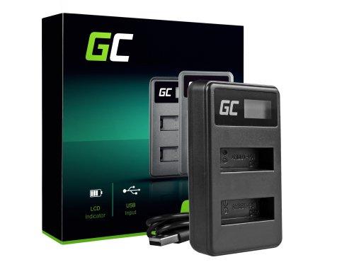 Ladegerät AHBBP-401 Green Cell ® für GoPro HERO 4 CHDBX CHDBY CHDHX CHDHY Black White Silver Edition (4.2v 2.5w 0.6A)
