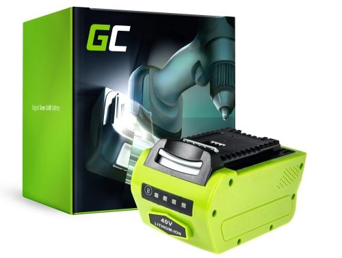 Batterie Akku (4Ah 40V) G-MAX 40V 29717 29727 G40B2 G40B4 für GreenWorks 40V Series 20077 20117 1301507 2500207 2504807