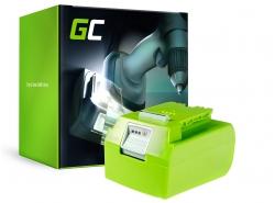 Green Cell ® Akku für Rasen GreenWorks 29852 G-24 G24 24V 4Ah Samsung