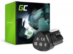 Green Cell ® Akku für WORX WA3503 WA3509 12V 2Ah Samsung