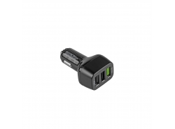 3 USB-Auto-Ladegerät  mit Schnellladung Green Cell