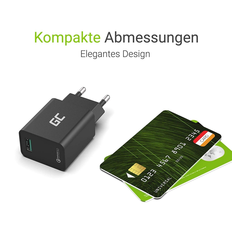 18w usb ladeger t mit quick charge 3 0 schnellladung. Black Bedroom Furniture Sets. Home Design Ideas
