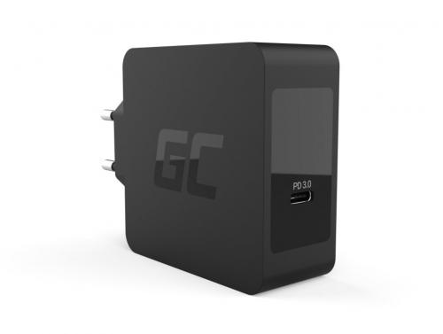 Green Cell USB-C 60W PD nabíječka s kabelem USB-C pro Apple MacBook Pro 13, Asus ZenBook, HP Specter, Lenovo ThinkPad a další