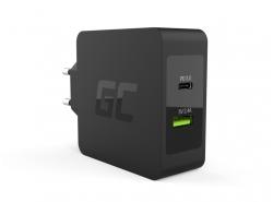 Green Cell 45W USB-C nabíječka PD s kabelem USB-C a dalším portem USB