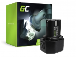 Green Cell® Batterie Akku (1.5Ah 7.2V) BCC715 EB712S EB714S EB7 für Hitachi DN10DSA NR90GC WH6DC