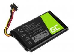 Akku Green Cell AHA11111008 für GPS TomTom Go 540 5000 5100 5250 Pro 6000 6200 Truck 5250 Trucker 5000, Li-Ion 1100mAh 3.7V