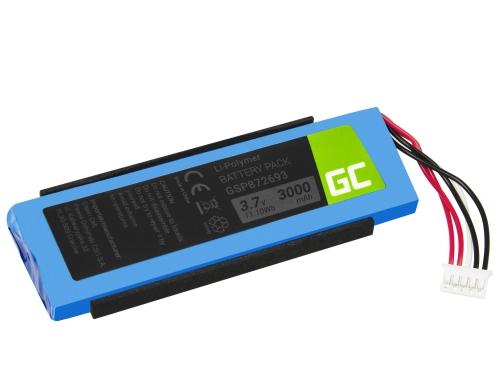 Green Cell ® Akku, Batterie GSP872693 P763098 03 für Lautsprecher Bluetooth JBL Flip III Flip 3, Li-Polymer 3.7V 3000mAh