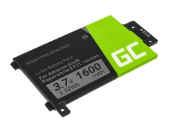 Green Cell Akku Batterie 58-000008 für Amazon Kindle Paperwhite I 1st 3G EY21 B024 B01B B01C B01D B01F B020, E-book 1600mAh