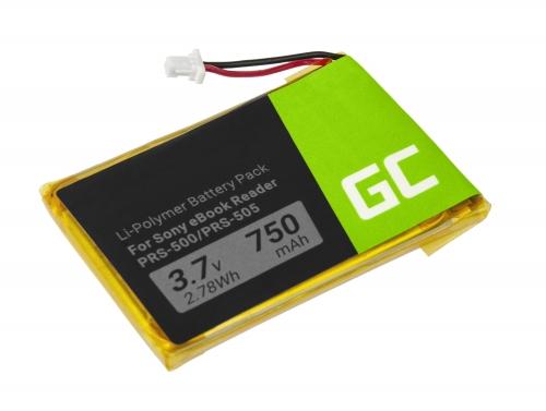 Green Cell ® Akku Batterie 1-756-769-11 für Sony Portable Reader PRS-500 PRS-500U2 PRS-505 PRS-505LC PRS-700, E-book 750mAh
