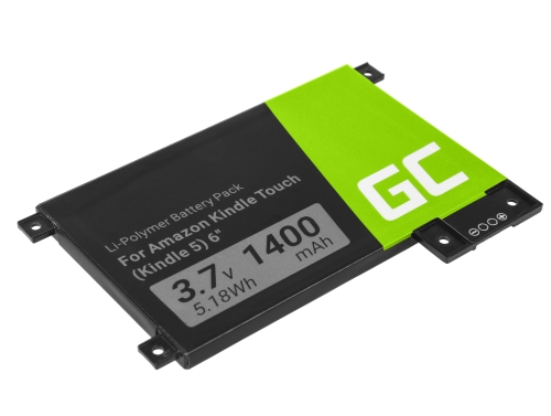 Green Cell Akku Batterie 170-1056-00 für Amazon Kindle Touch 3G D01200 DR-A014 B00F B010 B011 4th Gen Late 2011, E-book 1400mAh