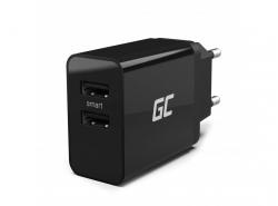 Univerzální nabíječka Green Cell ® s funkcí rychlého nabíjení 2 porty USB