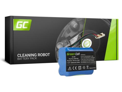 Green Cell® Batterie Akku (2.5Ah 7.2V) 4409709 für iRobot Braava / Mint 380 380T 5200 5200B 5200C Plus
