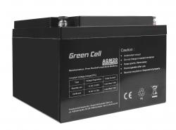 Green Cell® Akku Batterie AGM VRLA 12V 26Ah Sealed Lead-Acid wartungsfrei
