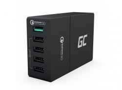 Univerzální nabíječka Green Cell s funkcí rychlého nabíjení, 5 portů USB, QC 3.0