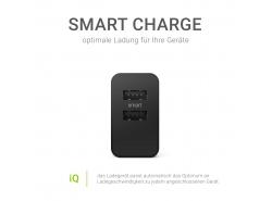Universal Ladegerät Green Cell ® mit Schnellladefunktion 2 USB-Anschlüsse