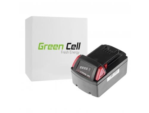 Green Cell ® Akkuwerkzeug 48-11-1830 für Milwaukee C18 M18 18V 3000mAh