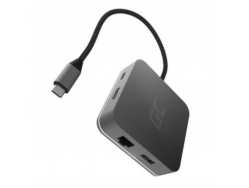 Dockingstation, Adapter, HUB USB-C HDMI Adapter Green Cell - 6 Ports für MacBook Pro, Dell XPS, Lenovo X1 Carbon und andere