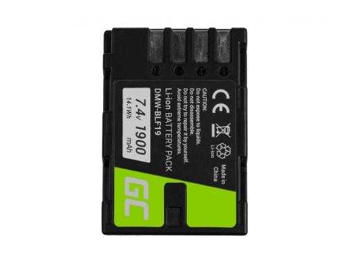 Green Cell ® Akku DMW-BLF19 für Panasonic Lumix DC-G9 DC-GH5 DC-GH5s DMC-G9 DMC-GH3 DMC-GH4 7.2V 1900mAh