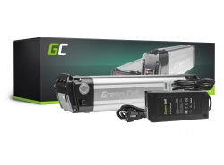 Akku Batterie Green Cell Silverfish Panasonic Zellen 36V 10.4Ah 374Wh für Elektrofahrrad E-Bike Pedelec