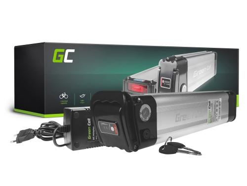 Green Cell® E-Bike Akku 36V 14.5Ah Li-Ion Silverfish Elektrofahrrad Batterie mit Ladegerät