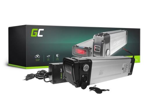 Green Cell ULTRA® E-Bike Akku 36V 23.8Ah Li-Ion Markenzellen Silverfish Batterie mit Ladegerät