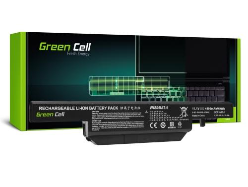Green Cell ® Laptop Akku W650BAT-6 für Clevo W650 W650SC W650SF W650SH W650SJ W650SR W670 W670SJQ W670SZQ1