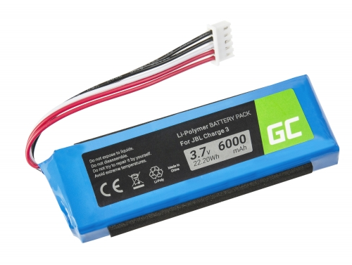 Green Cell ® Akku, Batterie GSP1029102A für Lautsprecher Bluetooth JBL Charge 3 Charge III 2016 Version, Li-Polymer 3.7V 6000mAh