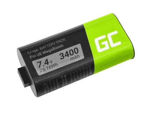 Green Cell ® Akku 533-000116 533-000138 D09S07F0001N04 S-00147 für Lautsprecher MEGABOOM S-00147 UE Ultimate Ears, 7.4V 3400mAh