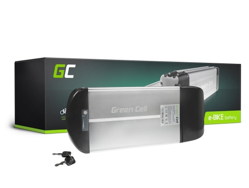 Akku Batterie Green Cell Rear Rack 36V 10Ah 360Wh für Elektrofahrrad E-Bike Pedelec