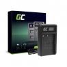 Ladegerät MH-18 Green Cell ® für Nikon EN-EL3, DSLR D50 D70 D70S D80 D90 D100 D200 D300 D300S D700 D900 (8.4V 5W 0.6A)