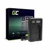 Ladegerät CBC-E5, LC-E5 Green Cell ® für Canon LP-E5, EOS 450D 600D 1000D Kiss F X2 X3 Rebel T1i XS Xsi (8.4V 5W 0.6A)