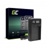 Ladegerät BCH-1 BCH1 Green Cell ® für Olympus BLH-1 BLH1, OM-D E-M1 Mark II Grip HLD-9 (8.4V 5W 0.6A Schwarz)