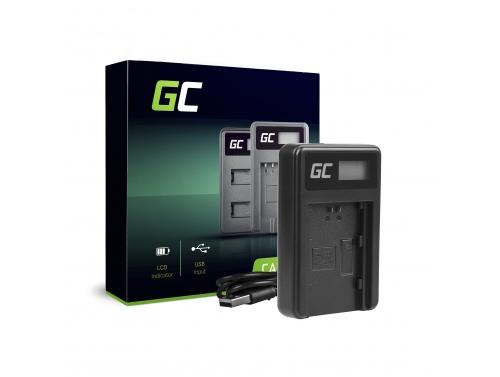 Ladegerät BC-QZ1 Green Cell ® für Sony NP-FZ100 NPFZ100, Alpha A7 III A7R III A9 A9R 9S ILCE (8.4V 5W 0.6A Schwarz)