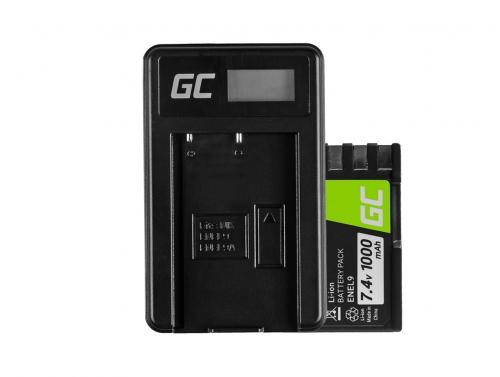 Green Cell ® Akku EN-EL9 / EN-EL9E und Ladegerät MH-23 für Nikon D-SLR D40 D40A D40C D40X D60 D3000 D5000