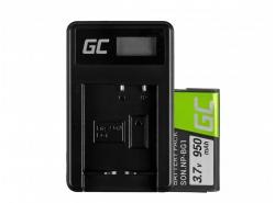 Green Cell ® Akku NP-BG1 und Ladegerät BC-CSG für Sony DSC H10, H20, H50, HX5, HX10, T50, W50, W70