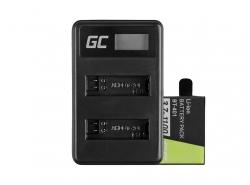 Green Cell ® Akku AHDBT-401 und Ladegerät AHBBP-401 für GoPro Hero 4 Black Silver 1100mAh