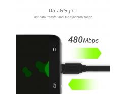 Kabel GCmatte USB-C Flach 25 cm mit schneller Ladeunterstützung
