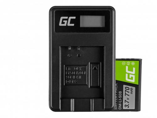 Green Cell ® Akku Li-50B und Ladegerät Li-50C für Olympus SZ-15, SZ-16, Tough 6000, 8000, TG-820, TG-830, TG-850