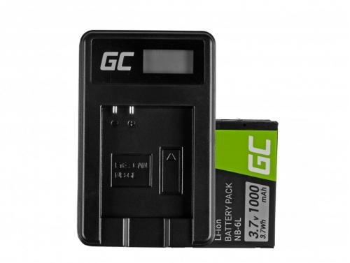 Green Cell ® Akku NB-6L/6LH und LadegerätCB-2LY für Canon PowerShot SX510 HS, SX520 HS, SX530 HS, SX600 HS