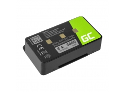 Akku Green Cell 010-10517-00 für GPS Garmin EGM478 GPSMAP 276 276c 296 376 376c 378 396 478 495 496, Li-Ion 3400mAh 8.4V